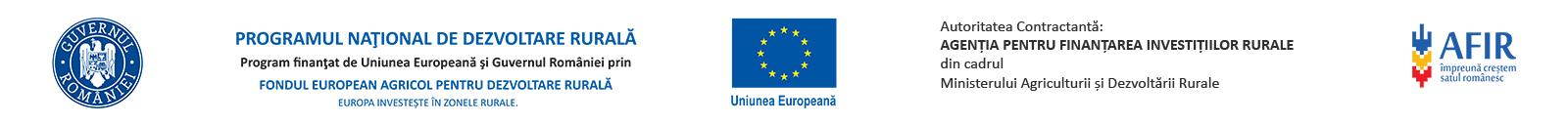 Proiect finantat cu fonduri europene nerambursabile prin Programul National de Dezvoltare Rurala(PNDR):
